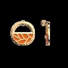 Boucles d'oreilles Créoles Tresse, Finition dorée, Orange Pailleté / Orange Soft image number 4