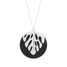 Monstera Necklace, Silver Finish - Patent red / Black image number 2
