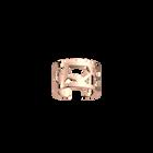 Girafe ring 12 mm, Rose gold finish image number 1