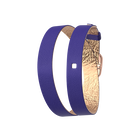 Wraparound leather strap Royal Blue / Mermaid Pink, Rose gold finish buckle image number 1
