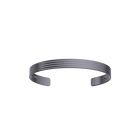 Horizontale Bracelet 14 mm, Matte ruthenium finish image number 1
