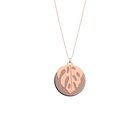 Monstera Necklace, Rose gold finish, Royal Blue / Mermaid Pink image number 2