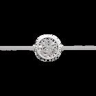 Bracelet chaîne Pétales 25 mm, Finition argentée image number 1