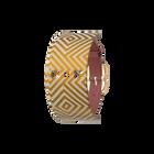 Single Wrap Leather strap Blush / Rubik, Gold finish buckle image number 1