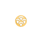 Poisson token Round 16 mm, Gold finish image number 1