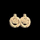Boucles d' Oreilles Perroquet, Double Rond 16 mm, Finition dorée image number 1