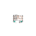 Ibiza Ring, Silver Finish, Light Pink / Turquoise image number 1