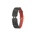 Leather strap Single Wrap Brick / Reptile, Gold finish buckle image number 1