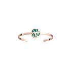 Perroquet Bangle, Rose gold finish, Terracotta / Lagoon Blue image number 2