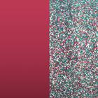 Leather insert - Earrings, Soft Raspberry / Multicoloured Glitter image number 1