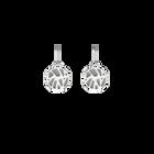 Boucles d'oreilles Dormeuses Perroquet, Finition argentée, Indigo / Blanc Cassé image number 2