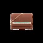 Plaited Caramel Le Mini Bijou Bag, Rose Gold Nénuphar decorative plaque image number 1