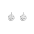Monstera Les Audacieuses Earrings, Silver finish, Almond Green / White Glitter image number 2