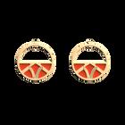 Boucles d'oreilles Petites Créoles Hiboux, Finition dorée, Satin Doré / Capucine image number 2