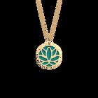 Collier Lotus, Finition dorée, Terracotta / Bleu Lagon image number 2