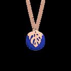 Collier Monstera, Finition dorée rose, Bleu Outremer / Rose Sirène image number 1
