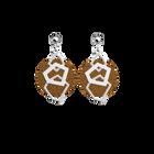 Boucles d'oreilles XL Gigi, Finition argentée, Cuivré / Vert foncé image number 2