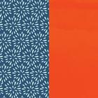 Banda de cuero estampado, Plumetis / Naranja Charol image number 1