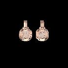 Boucles d'oreilles Pétales, Dormeuses 16 mm, Finition dorée rose image number 1