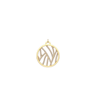 Perroquet Pendant round 25 mm, Gold finish image number 1