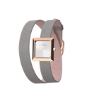 Light Pink / Light Grey Wraparound Watch, Rose Gold finishes image number 2
