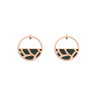 Tresse Small Hoop Earrings, Rose gold finish, Soft Pink / Petrol Green image number 2