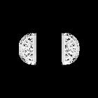 Boucles d'oreilles Girafe, Demi-lunes 30 mm, Finition argentée image number 1