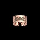 Bague Talisman, Finition dorée rose, Rouge orangé / Taupe Soft image number 2