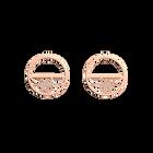 Boucles d'oreilles Pétales, Créoles 30 mm, Finition dorée rose image number 1