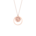 Collier Fougères, Finition dorée rose, Rose Clair / Gris Clair image number 1