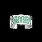 Manchette Lotus, Finition argentée, Vert d'Eau / Paillettes Argentées image number 1