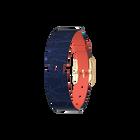 Bracelet Cuir Corail / Marine, boucle dorée image number 1