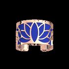 Manchette Lotus, Finition dorée rose, Bleu Outremer / Rose Sirène image number 1