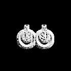 Boucles d'Oreilles Lotus, Double Rond 16 mm, Finition argentée image number 1