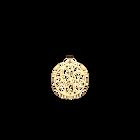 Pendentif Nénuphar Rond 25 mm, Finition dorée image number 1