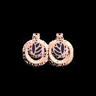 Boucles d'oreilles Dormeuses Double Rond Lotus, Finition dorée rose, Nuit Étoilée / Brun Écorce image number 1