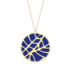 Fougères Necklace, Gold finish, Royal Blue / Mermaid Pink image number 1