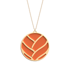 Tresse Necklace, Gold finish, Multicolored Glitter / Tangerine image number 2