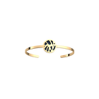 Perroquet Bangle, Gold finish, Sun / Navy Blue image number 1