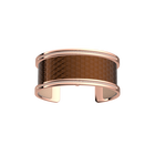 Manchette Pure Précieuse, Finition dorée rose, Bronze Cubique / Pêche Blanche image number 1