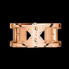 Manchette Structure 25 mm, Finition dorée rose image number 1
