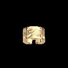 Bague Vibrations 12 mm, Finition dorée image number 1