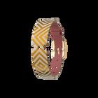 Correa de cuero Blush / Rubik, Acabado dorado image number 1