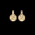 Ruban Sleeper 16 mm Earrings, Gold finish image number 1