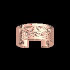 Manchette Talisman 25 mm, Finition dorée rose image number 1