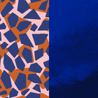 Patterned leather, Giraffe / Patent Blue image number 1