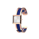 Structure Watch, Rose Gold finish, Giraffe / Patent Blue image number 2