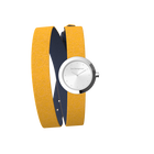 Sun / Navy Blue Wraparound Watch, Silver finishes image number 3