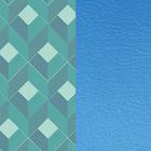 Patterned leather, Rythm / Cornflower image number 1