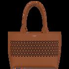 Camel Le Cabas Zippé Dentelle Bag, Resille pattern -  Black Glitter lining image number 1